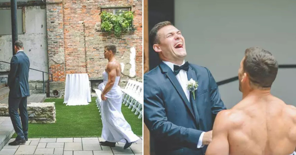 featured image 58.jpg?resize=1200,630 - Bride-To-Be Pranked Groom By Dressing His Best Man In A Wedding Gown