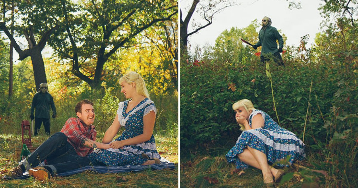 gray17.png?resize=1200,630 - This Fun Couple Had The Most Frightening Engagement Photoshoot Ever