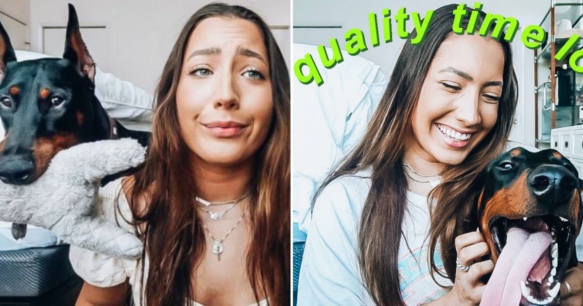 houts6.png?resize=412,232 - YouTuber Under Investigation After She Accidentally Uploaded Video Of Herself Spitting On Her Pet
