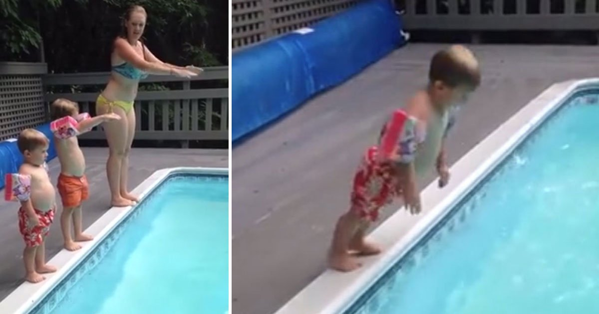 kid belly flop.jpg?resize=412,232 - VIDEO : Un enfant de deux ans réinvente le plongeon