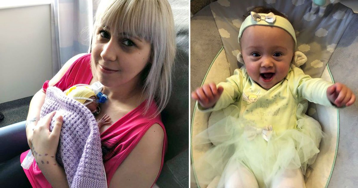 miracle baby.jpg?resize=412,232 - Woman Who Gave Birth On The Toilet Seat 16 Weeks Early Was Told Her Daughter Wouldn't Survive - The Miracle Child Is Now 15-Month-Old