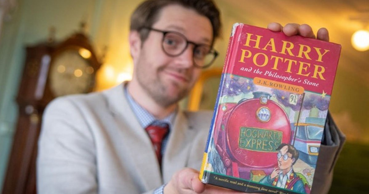 rare harry potter book.jpg?resize=412,232 - First Edition Harry Potter Book - Bought For £1 By The Owner - Sold For A Whopping £34,200 At Auction