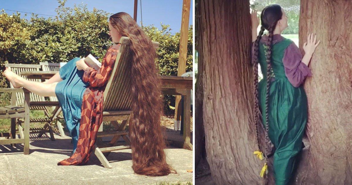 real life rapunzel.jpg?resize=412,232 - Raiponce dans la vraie vie : ses cheveux mesurent 1,80 mètres