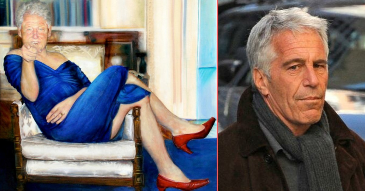 s 2 4.png?resize=412,232 - Jeffrey Epstein Owned A Strange Painting of Bill Clinton Wearing a Blue Dress and Red Heels