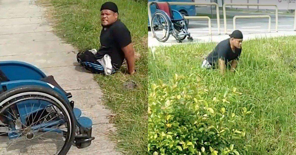 s 61.jpg?resize=1200,630 - 다리 불편한 남성이 휠체어에서 내려와 배수로에 간 이유