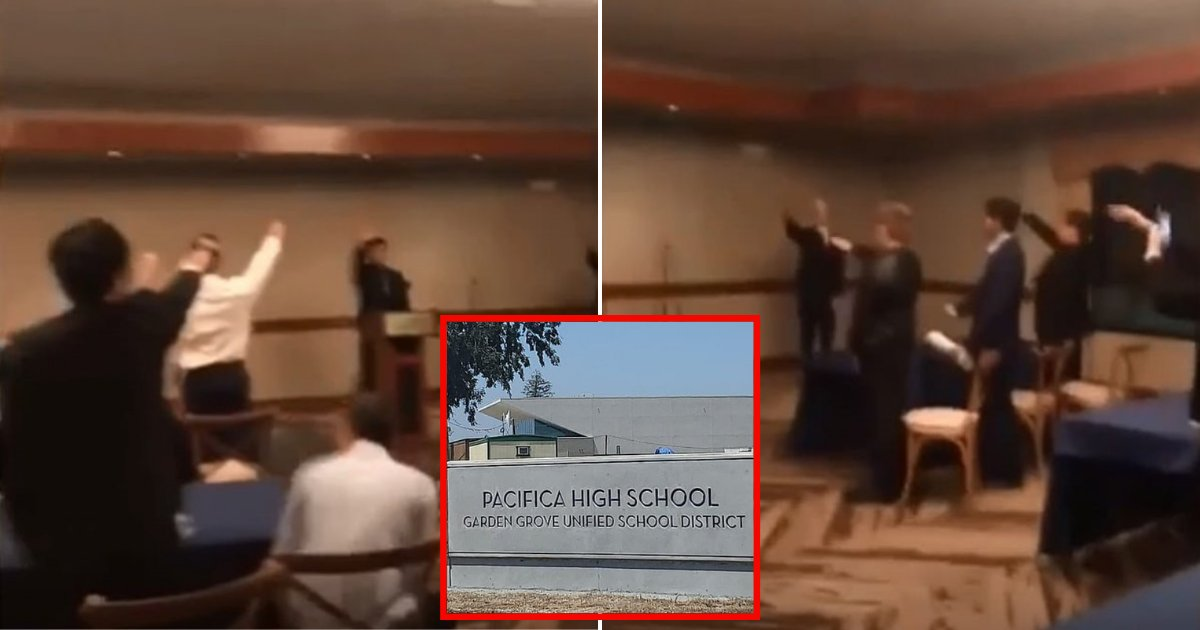 students5.png?resize=412,232 - Around Ten High School Students Appear To Give The Hitler Salute During Awards Ceremony