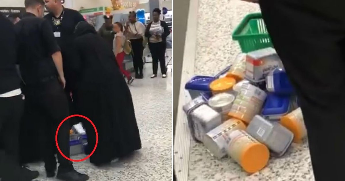 thieves5.png?resize=412,232 - Two Women Wearing Long Garments Were Caught Stealing Food In A Store