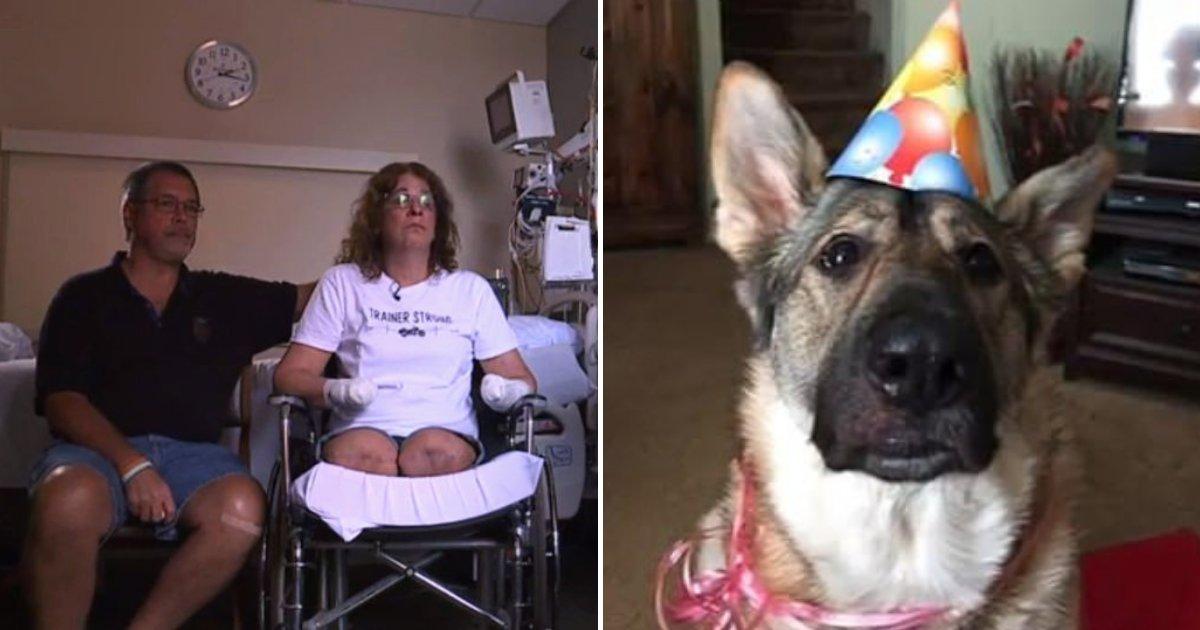 trainer5.png?resize=412,232 - Cette femme se fait amputer après que son chien l'ait léchée