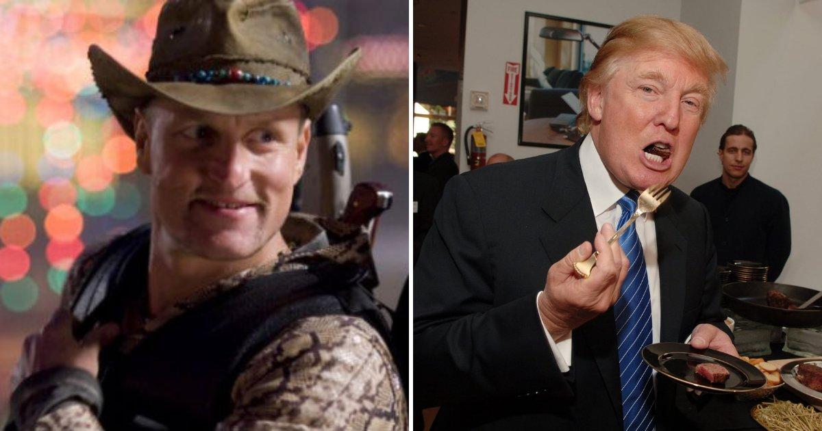 trump2 1.png?resize=574,582 - Woody Harrelson décrit son terrible dîner avec le président Trump