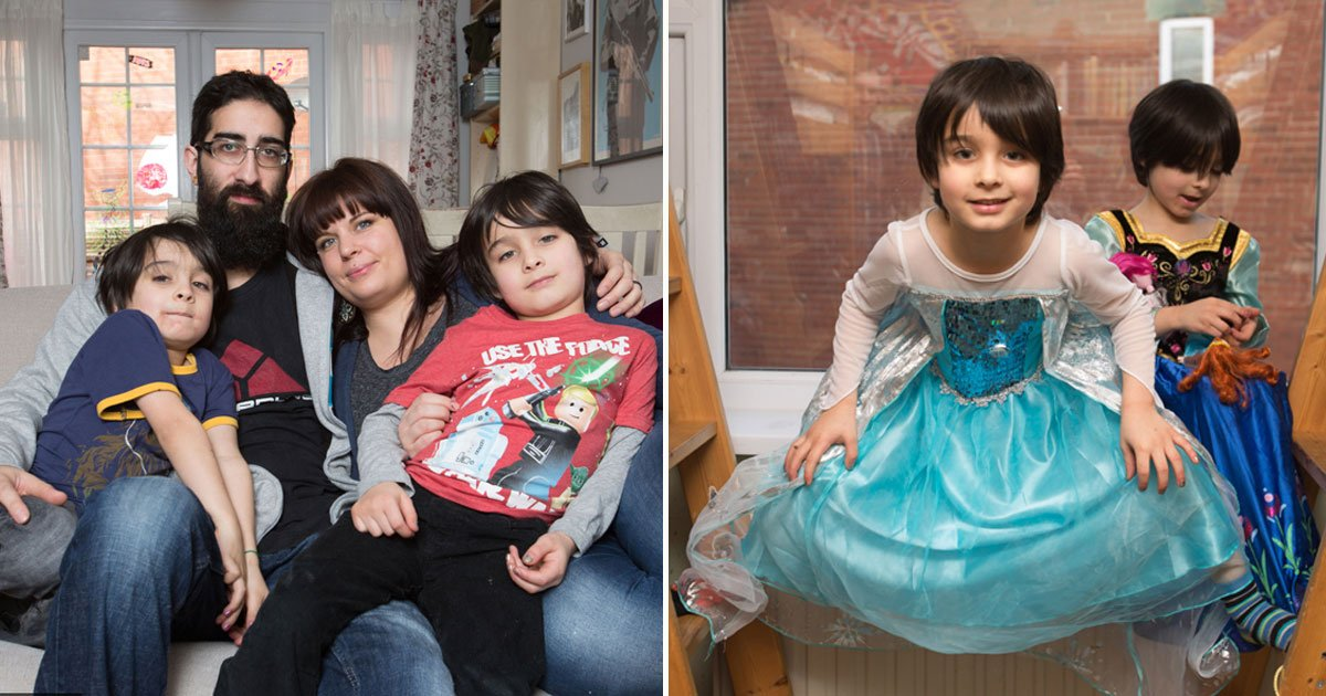 twins wear dresses.jpg?resize=1200,630 - This Couple Allowed Their Twin Boys To Wear Dresses And Play With Dolls