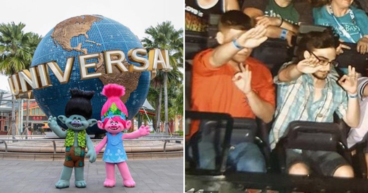 universal5.png?resize=1200,630 - Universal Studios Banned Four Tourists After They Were Photographed Performing The Nazi Salute On Roller Coaster