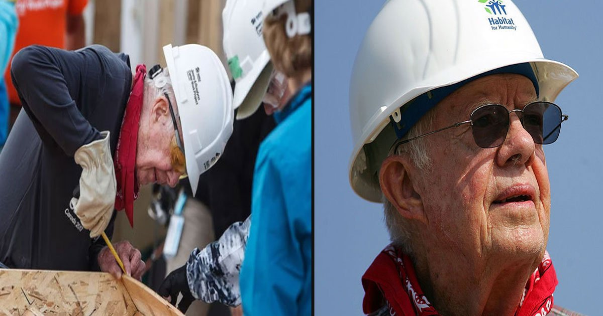 untitled 1 112.jpg?resize=1200,630 - Former President Jimmy Carter Won't Let His Recent Hip Surgery Stop Him From Attending The Annual Habitat For Humanity Build