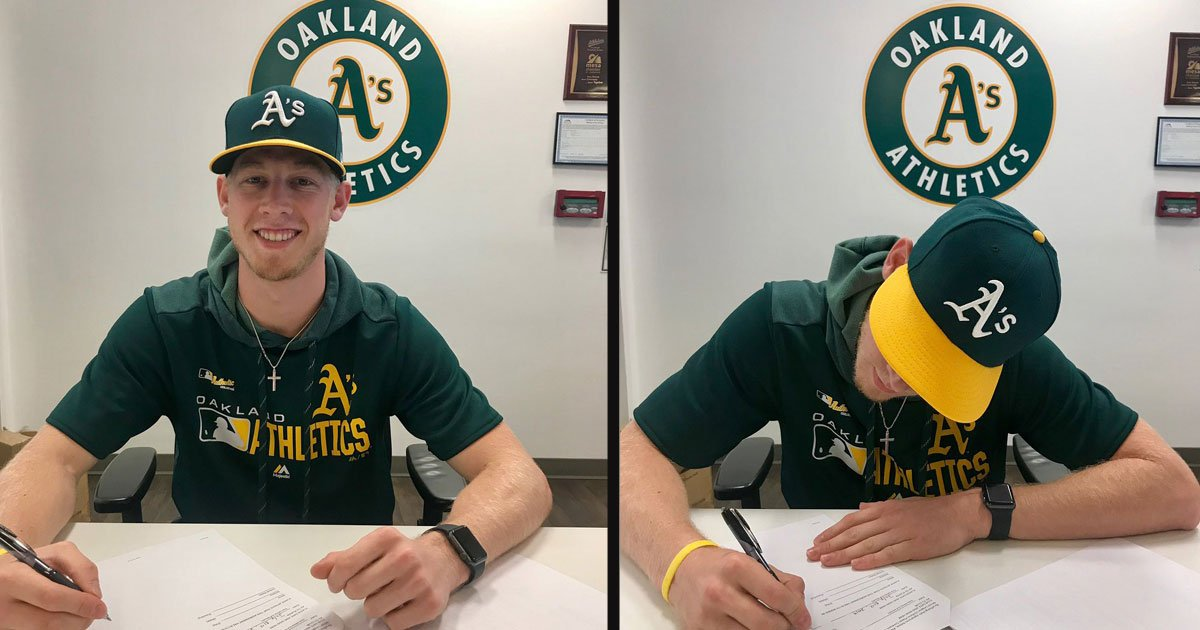 untitled 1 17.jpg?resize=412,232 - A Guy Threw A 96 MPH Fastball During A Fan Challenge And Got Signed By The Oakland A's