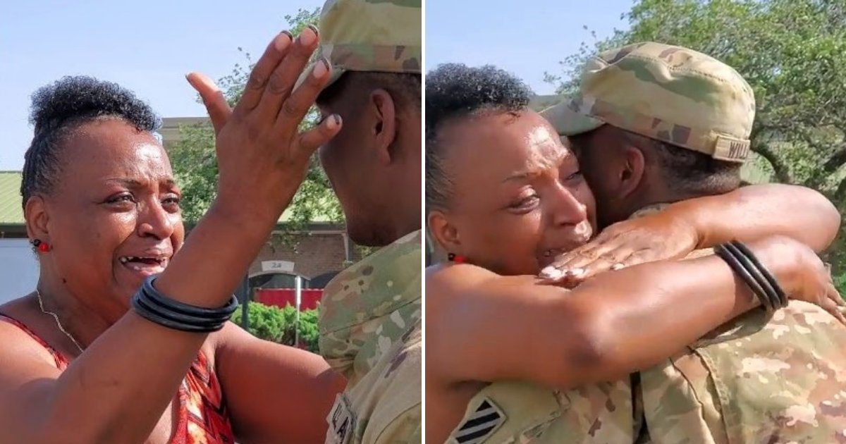 untitled design 12.png?resize=1200,630 - Soldier Surprised His Mother After Returning Home From His Mission Earlier Than Expected