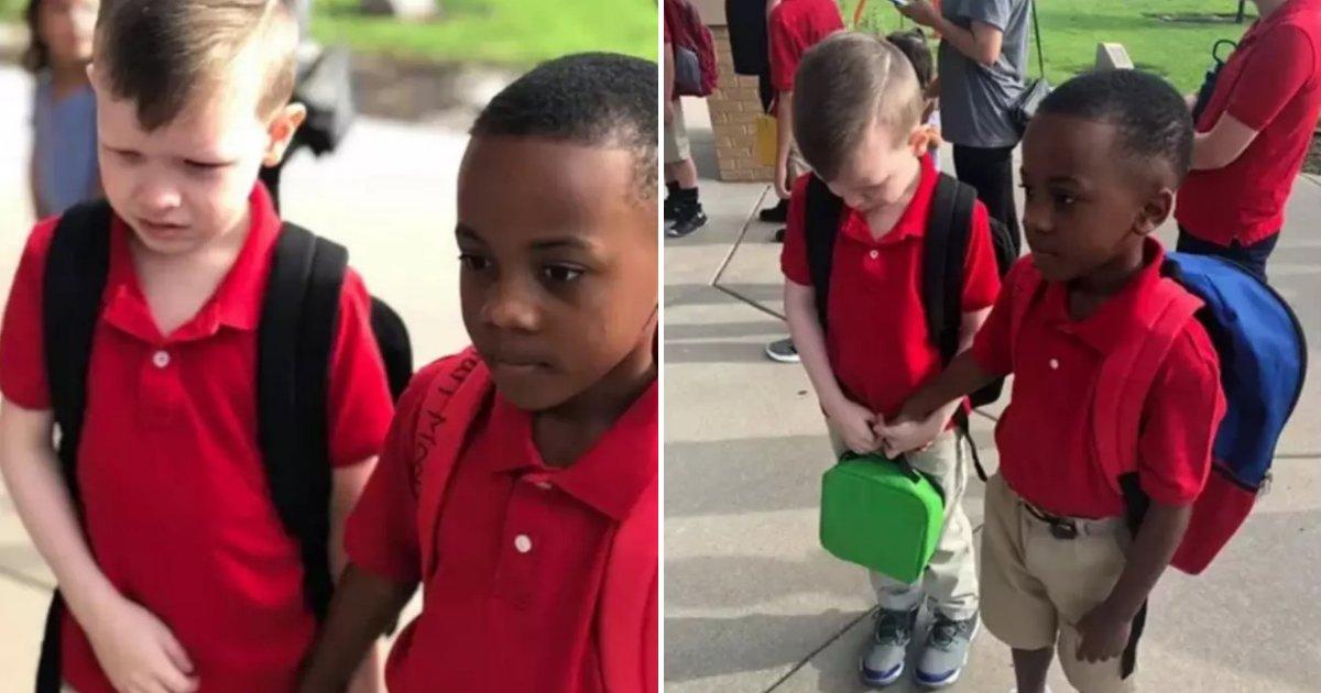 untitled design 2019 08 28t142714 401.png?resize=412,232 - Un écolier a tenu la main d'un garçon atteint d'autisme après l'avoir vu pleurer le premier jour d'école