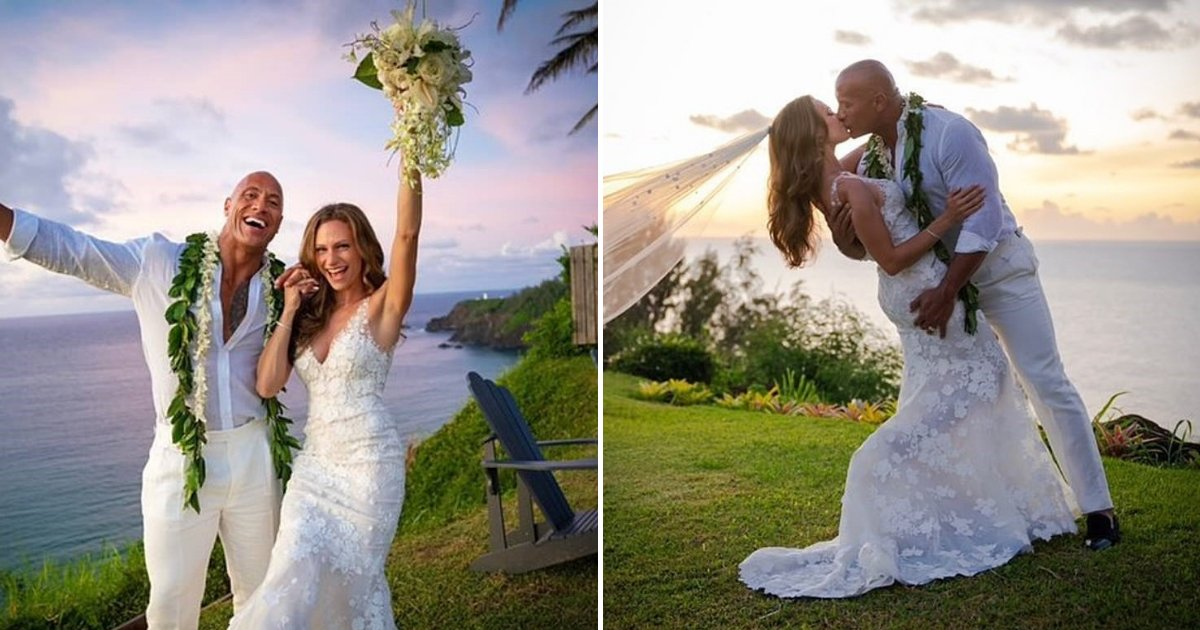 untitled design 54.png?resize=412,232 - Dwayne 'The Rock' Johnson Married His Longtime Girlfriend Lauren Hashian