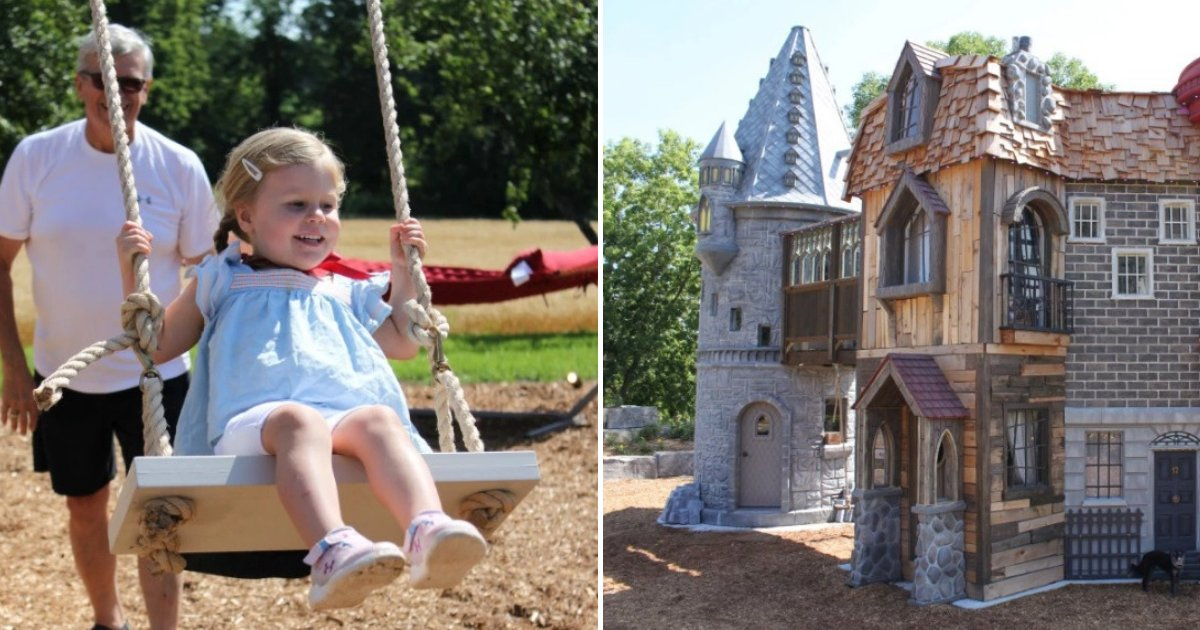 untitled design 70 1.png?resize=412,232 - Loving Grandparents Built Castle-Like Playhouse For Their 2-Year-Old Granddaughter