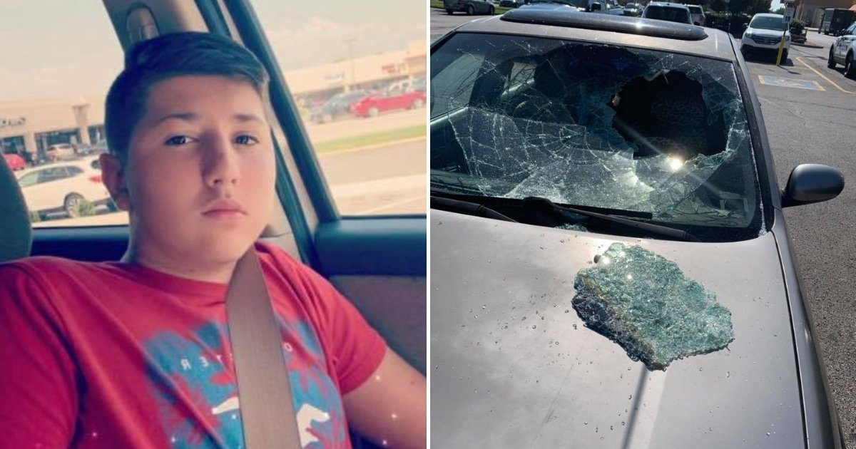 untitled design 74 1.png?resize=366,290 - 12-Year-Old Boy Dubbed A Hero After Smashing Car's Window To Save Trapped Toddler