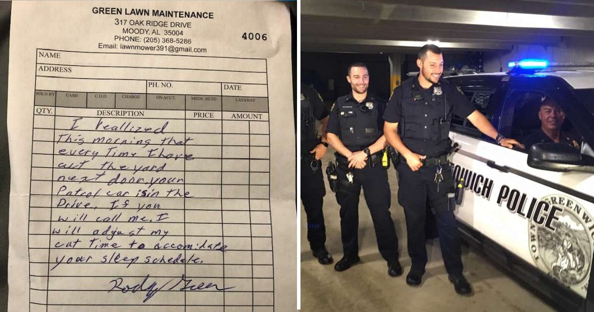 vsdgsdsfsfd.jpg?resize=412,232 - Meet This Caring Landscaper Who Offered To Adjust His Cut Times For The Sleep Schedule Of A Police Officer