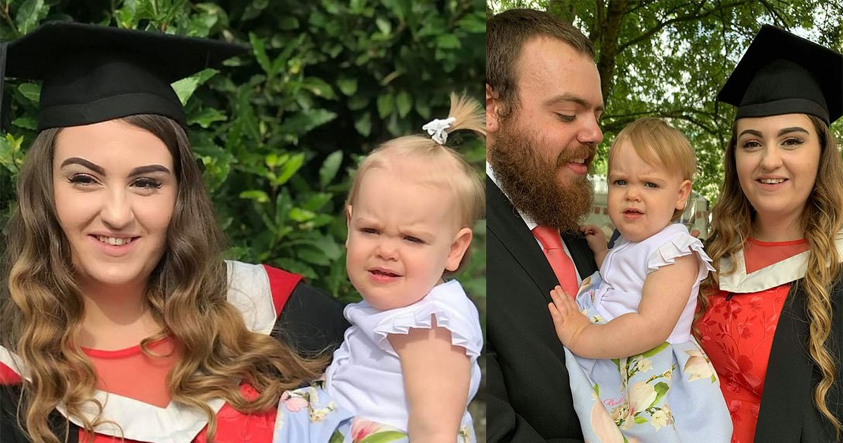young mother graduated with a first class degree after going through challenging times of her life.jpg?resize=412,232 - A Young Mother Who Was Homeless At 16 And Pregnant During College Managed To Graduate College With Honors