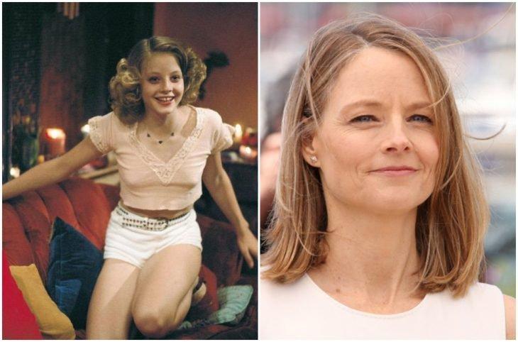 Jodie Foster de niña y adulta