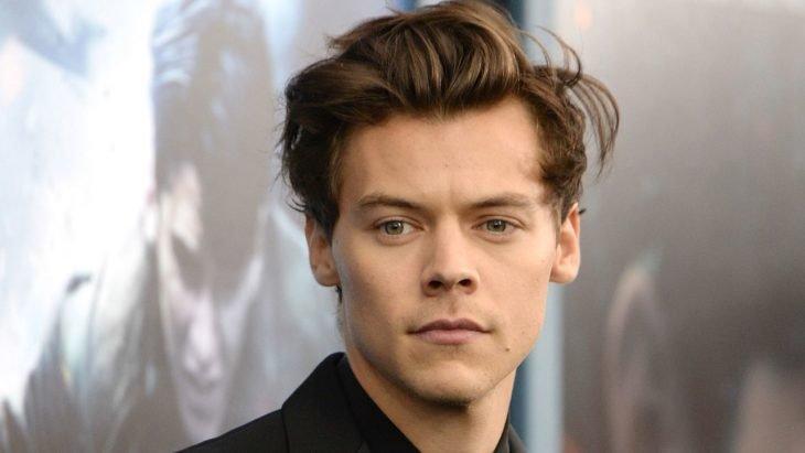 Harry Styles posando durante una alfombra roja