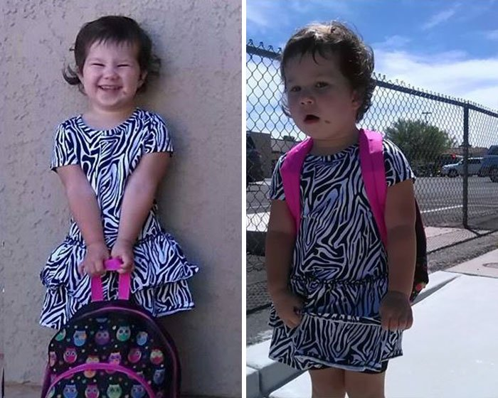 Before And After First Day Of School