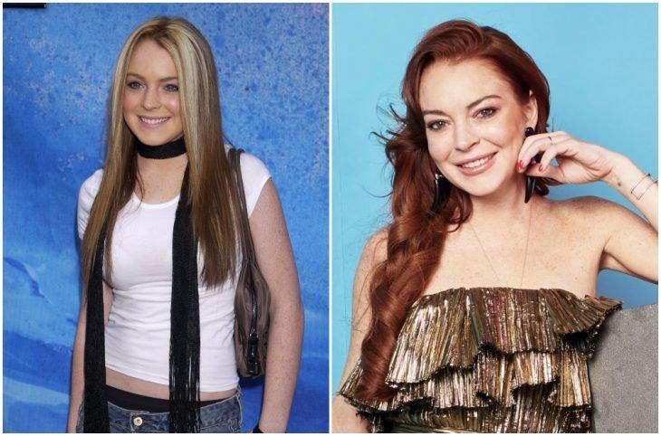 Lindsay Lohan a principios del 2000 y ahora