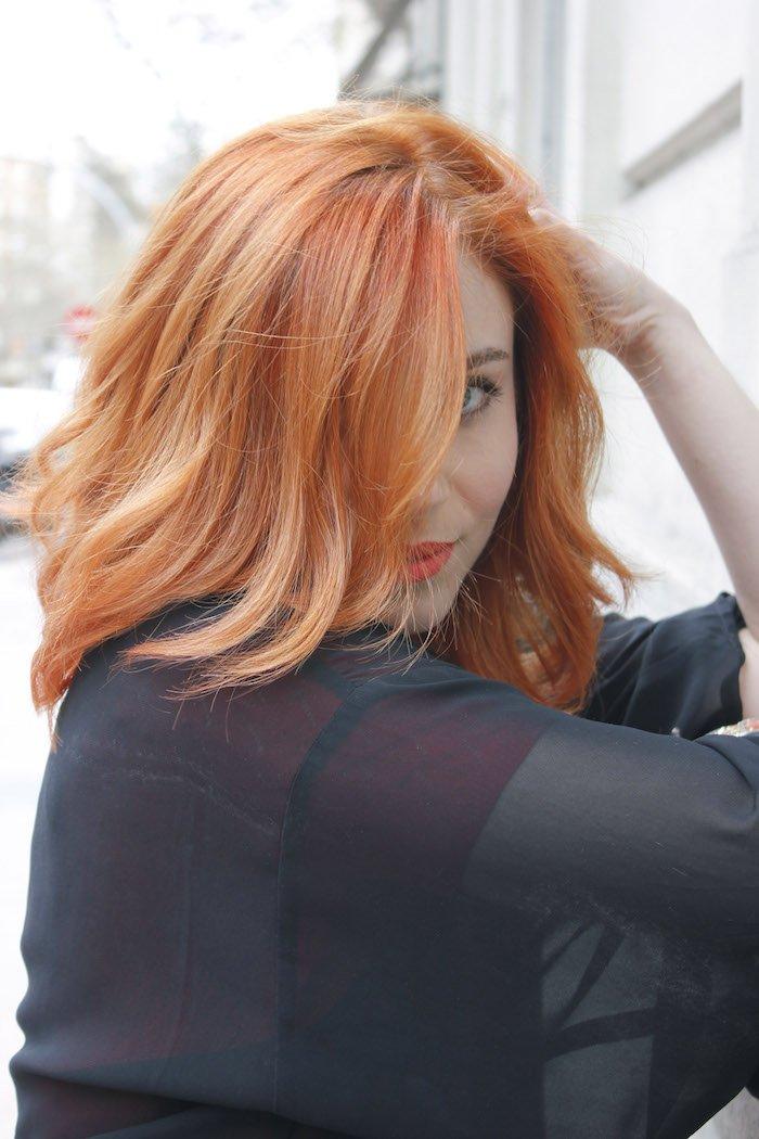 Resultado de imagen de color de cabello albaricoque