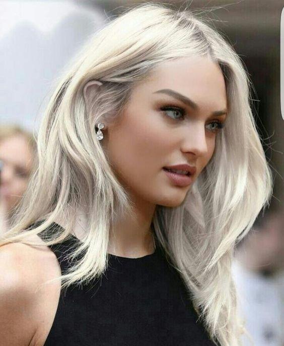 Resultado de imagen de color de cabello rubio platino
