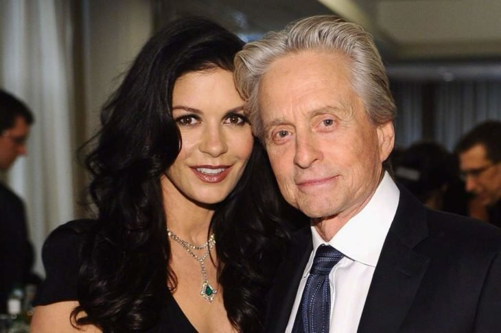 Catherine Z Jones y Michael Douglas