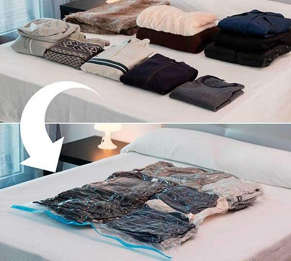 Resultado de imagen de bolsas al vacio para ropa