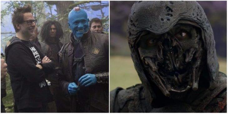 Hombre disfrazado de extraterrestre, escena de la película Guardianes de la Galaxia, James Gunn