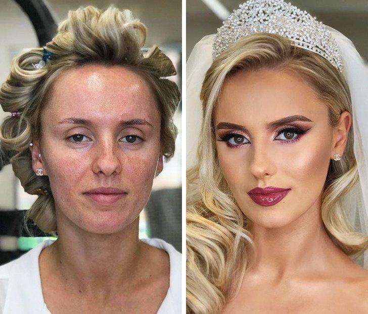 20+ Trabalhos que mostram como a maquiagem pode mudar a aparência de uma noiva