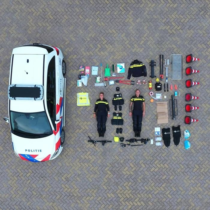 The Contents Of A Dutch Police Car