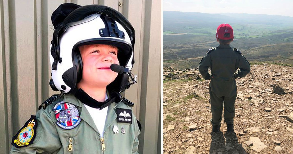 5 year old climbed mountain raf.jpg?resize=1200,630 - Five-Year-Old Boy Climbed A Six-Mile Mountain To Raise Money For RAF Benevolent Fund