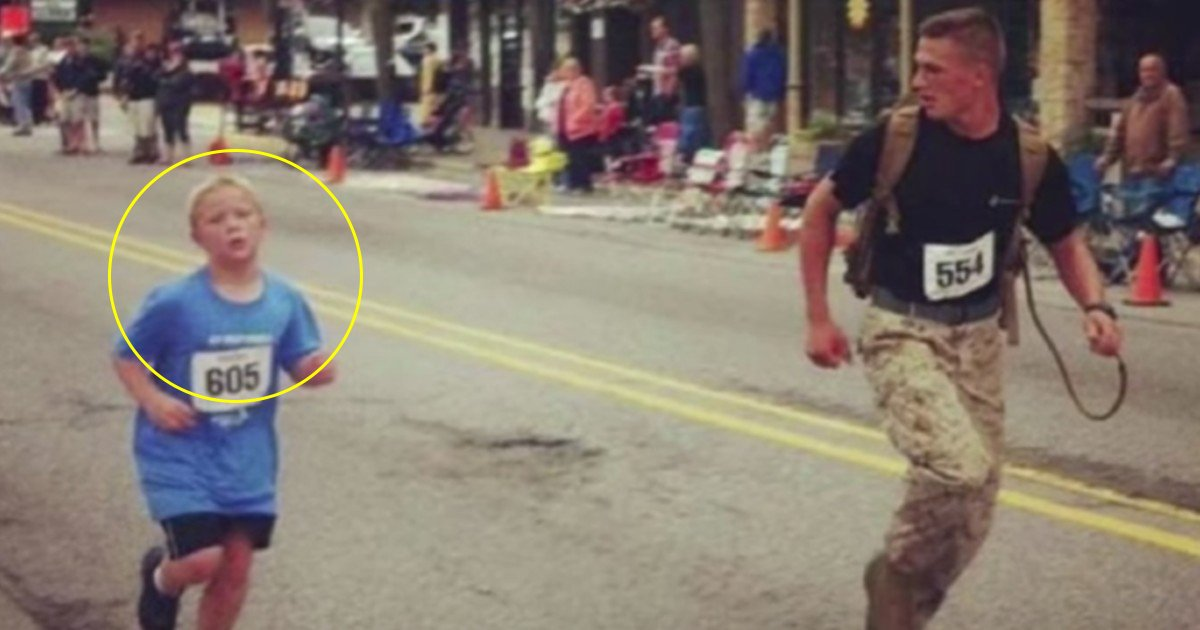 a 3.jpg?resize=412,232 - Amazing Moment When A Marine Helped A Boy Who Got Separated From His Friends In Marathon