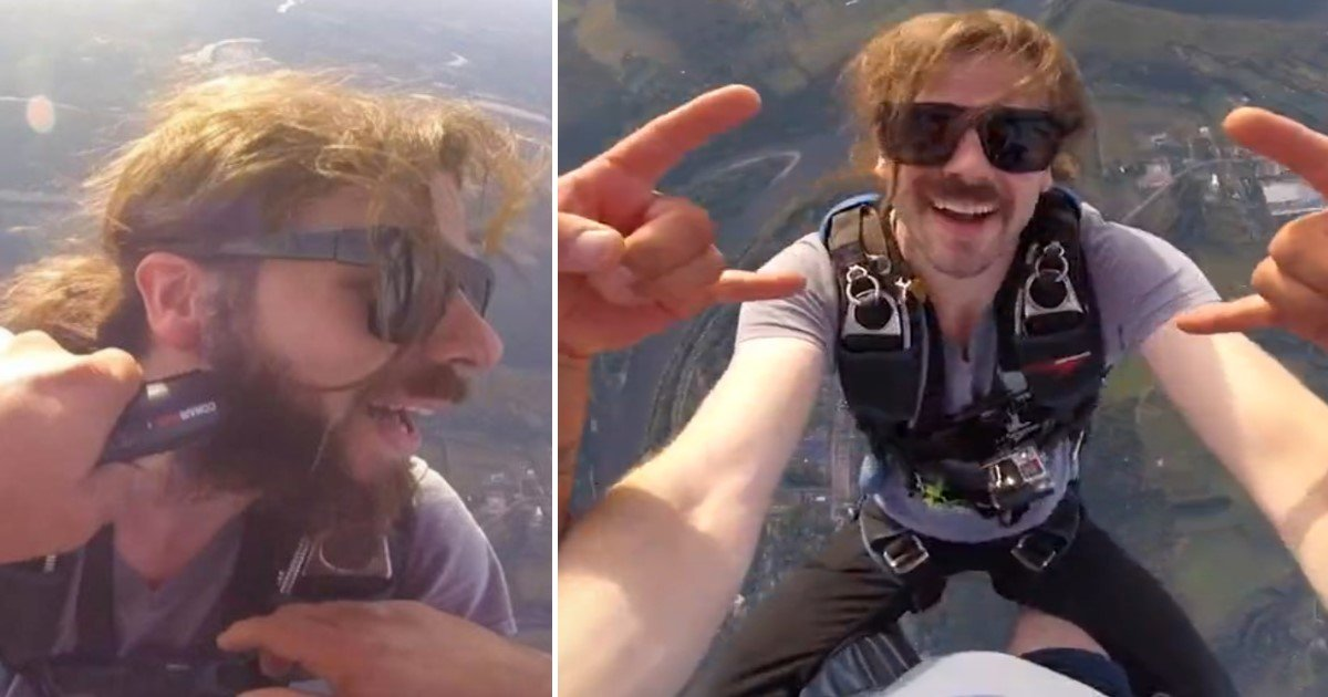 a 59.jpg?resize=1200,630 - Skydiver Celebrated 400th Dive By Getting His Beard Trimmed While Jumping From Height Of 10,500 Feet