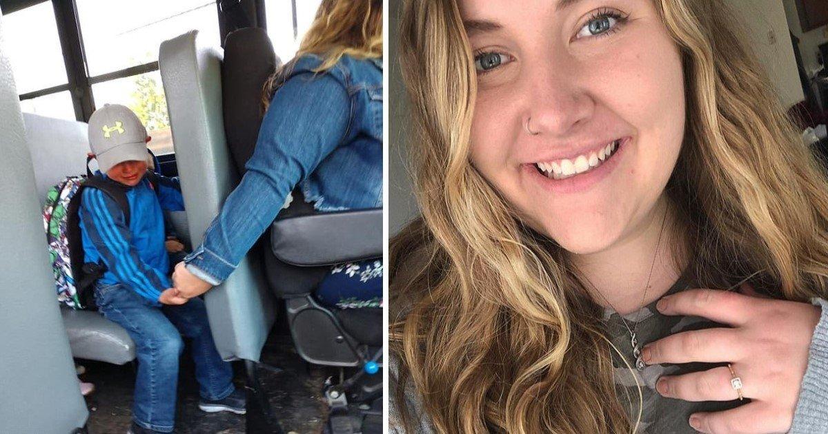 a 64.jpg?resize=412,232 - Une conductrice de bus a été félicitée pour avoir tenu la main d'un enfant en pleurs lors de son premier jour d'école