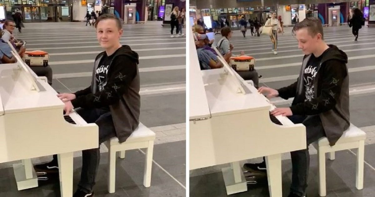 """a3 7.jpg?resize=1200,630 - Incredible Moment When A Boy With Autism Started Playing """"Bohemian Rhapsody"""" On The Piano"""
