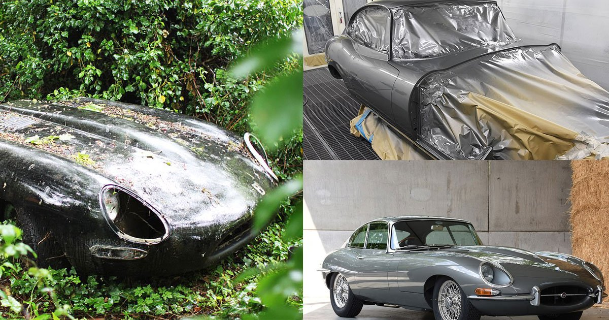 abandoned jaguar discovered in the forest undergrowth is now restored and worth over 100000.jpg?resize=1200,630 - An Abandoned Car Found In The Forest Is Worth Over $120K