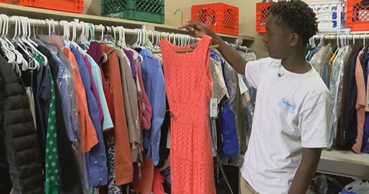 an 8th grader created school closet full of clothes and school supplies for fellow classmates in need.jpg?resize=1200,630 - An 8th Grader Created A School Closet Full Of Clothes And School Supplies For Fellow Classmates In Need