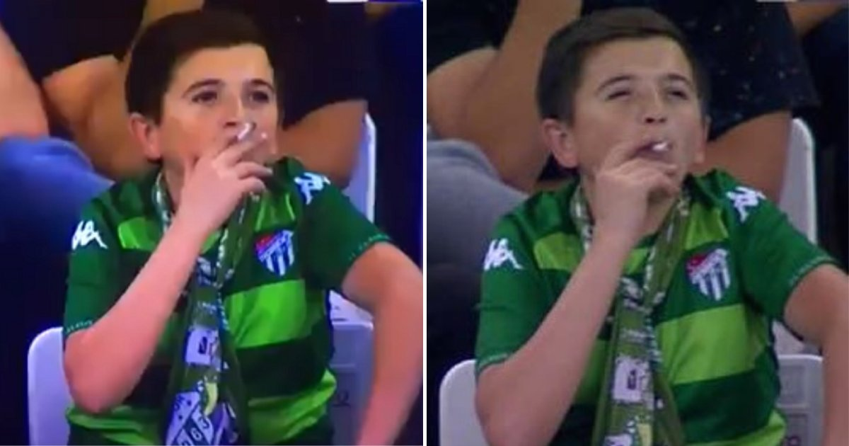 boy4.png?resize=412,232 - 'Boy' Pictured Smoking At Football Match Was Actually A Father Enjoying The Game With His Son