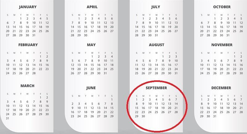 calendrier.jpg?resize=1200,630 - Le personnes nés en septembre sont plus intelligentes que le reste de la population