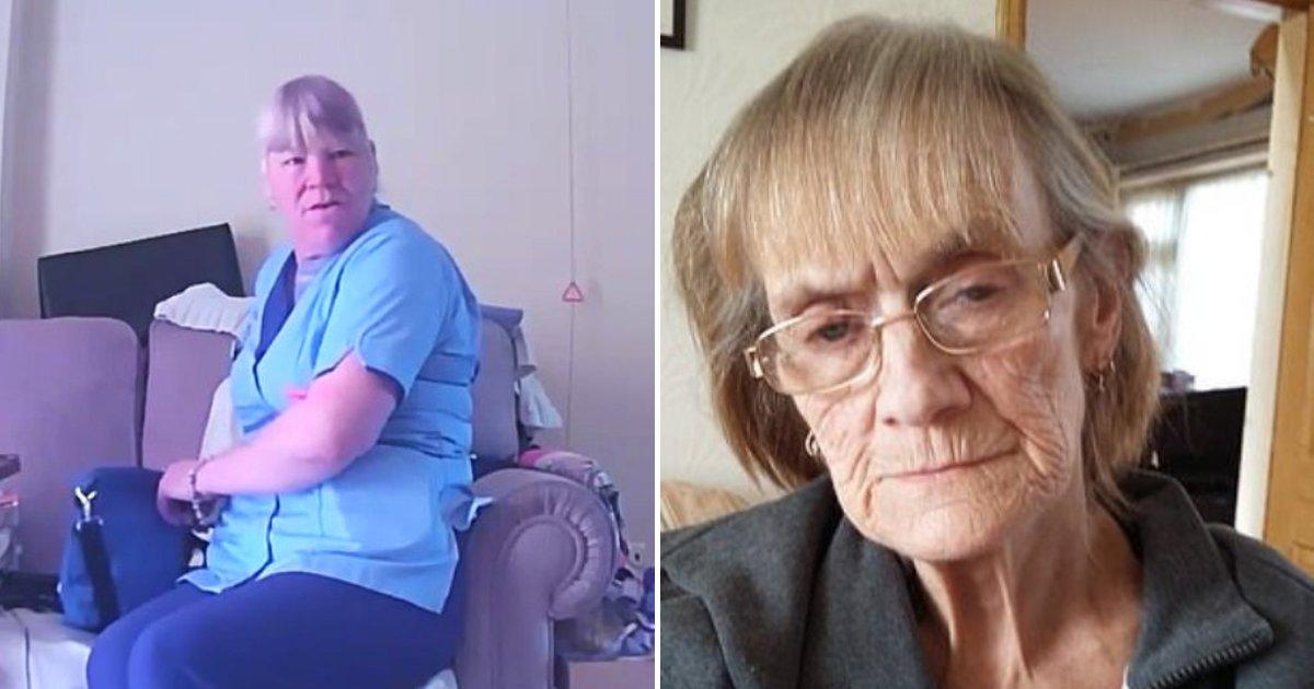 carer4.png?resize=300,169 - Une aide soignante est surprise en train de voler et d'abuser d'une personne âgée dont elle s'occupe