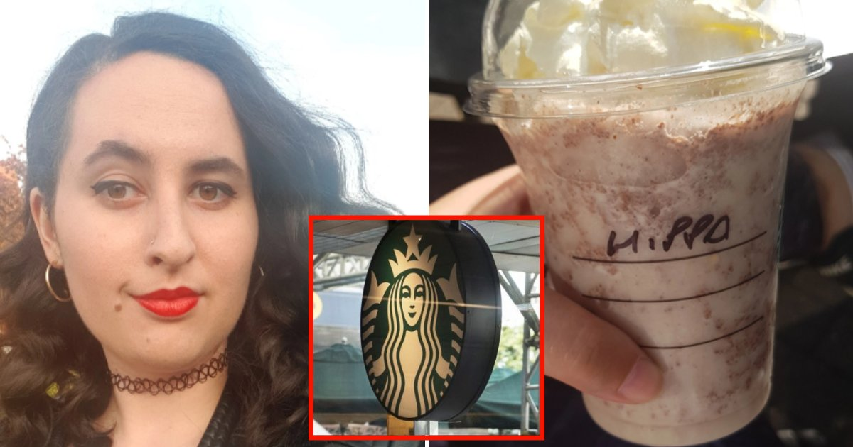 coffee4.png?resize=1200,630 - Woman Outraged After Starbucks Barista Wrote 'Hippo' On Her Coffee Cup Instead Of Her Name
