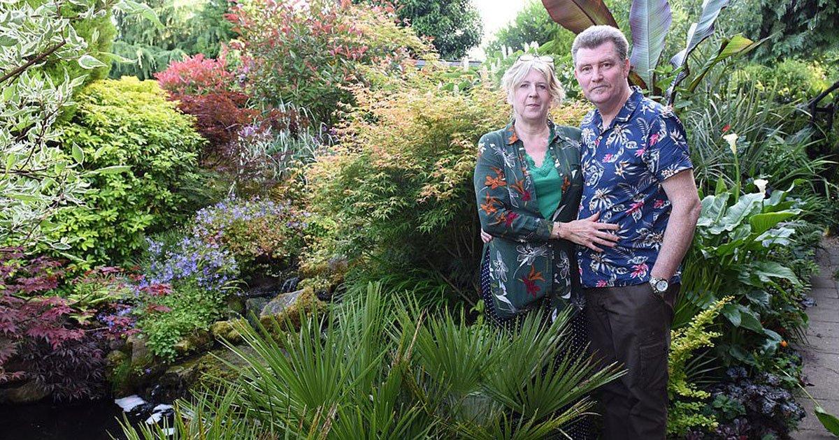 couple tropical garden.jpg?resize=1200,630 - Couple Turned Their Boring Garden Into Their Own Tropical Styled Fantasy