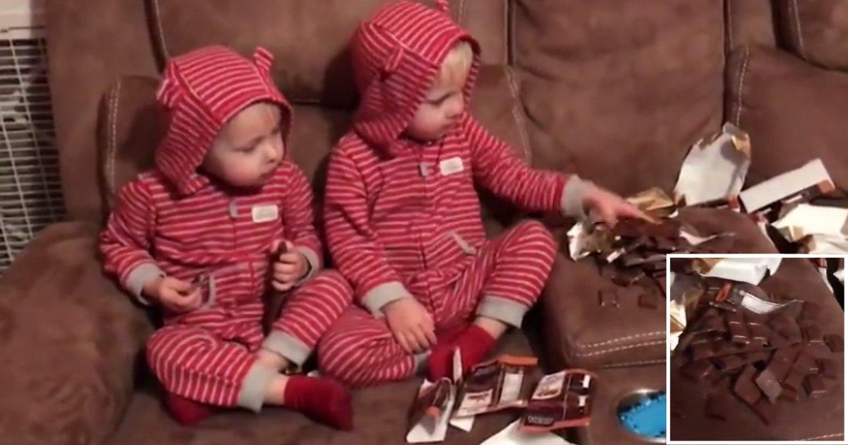 d3 1.png?resize=300,169 - Adorable vidéo de jumeaux surpris en train de manger du chocolat