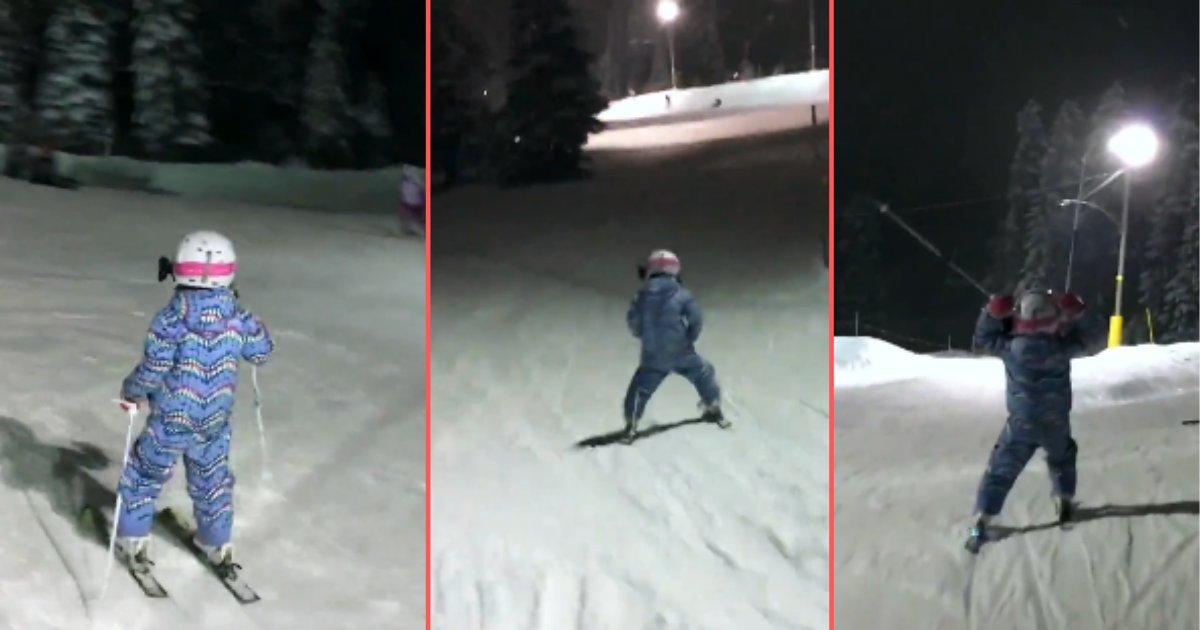 d3 14.png?resize=412,232 - Une petite fille filmée en train de skier comme une pro