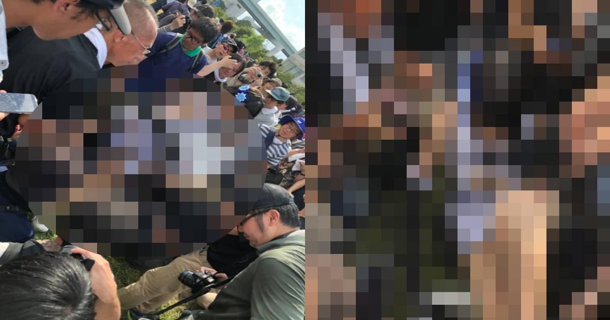 """e696b0e8a68fe38397e383ade382b8e382a7e382afe38388 2 12.jpg?resize=1200,630 - 日本の""""コミケ""""で美女コスプレイヤーが取り囲まれ、スカートの中にカメラを…!?"""